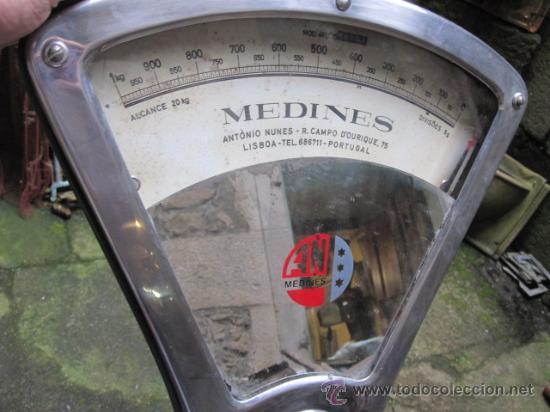 Antigüedades: BALANZA DE TIENDA MARCA MEDINES DE LISBOA - EN ACERO - FUERZA 20KG, FUNCIONANDO, LEER MAS - Foto 8 - 37787667