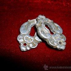Antigüedades: ANTIGUO CONJUNTO DE BOCA LLAVES DE BRONCE. Lote 37790359