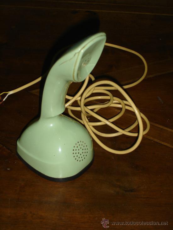 TELEFONO ERICSON, ERICOFON, SERIE COBRA, MADE SWEDEN, AÑO 1960, RAJADO EN BOCINA (Antigüedades - Técnicas - Teléfonos Antiguos)