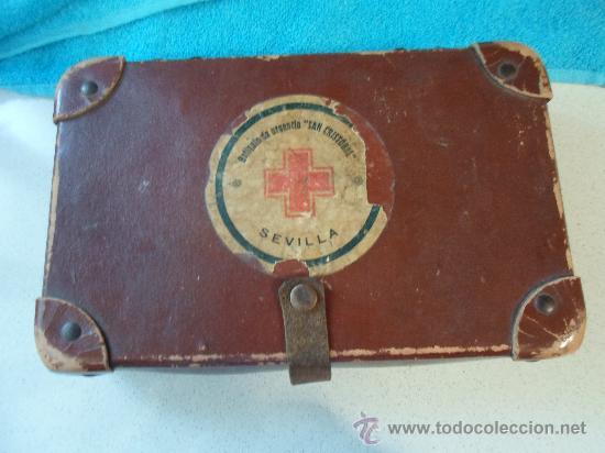 ANTIGUO BOTIQUIN DE CARTON (Antigüedades - Técnicas - Herramientas Profesionales - Medicina)