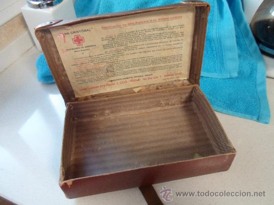 Antigüedades: ANTIGUO BOTIQUIN DE CARTON - Foto 6 - 37971639