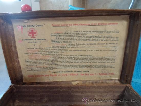 Antigüedades: ANTIGUO BOTIQUIN DE CARTON - Foto 7 - 37971639