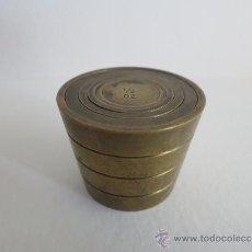 Antiquitäten - ponderal pila de vasos anidados completa de una libra 6 pesas - 38000693