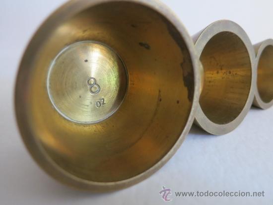Antigüedades: ponderal pila de vasos anidados completa de una libra 6 pesas - Foto 6 - 38000693