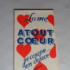 Antigüedades: HOJA DE AFEITAR LAME ATOUT COEUR (CUCHILLA). Lote 38115012