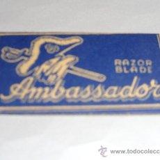 Antigüedades: HOJA DE AFEITAR RAZOR BLADE AMBASSADOR (CUCHILLA). Lote 38115086
