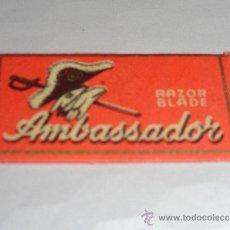 Antigüedades: HOJA DE AFEITAR RAZOR BLADE AMBASSADOR (CUCHILLA). Lote 38115101