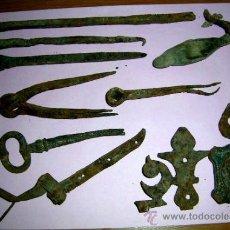 Antigüedades: 10.PIEZAS HIERRO FORJADO ANTIGUAS. VER DETALLES.ENVÍO PAGO. . .. Lote 38118470