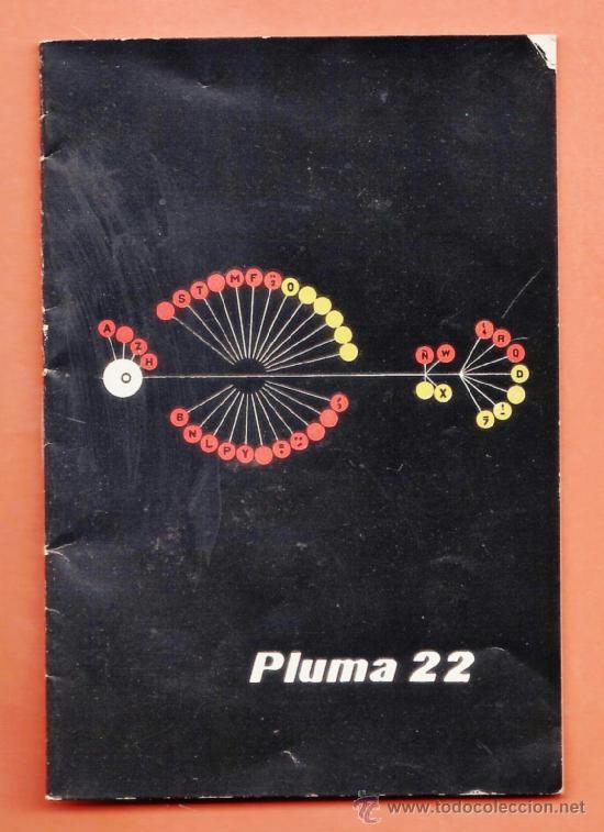MINI FOLLETO / INSTRUCCIONES - MAQUINA DE ESCRIBIR - PLUMA 22 - HISPANO OLIVETTI - AÑOS 60 (Antigüedades - Técnicas - Máquinas de Escribir Antiguas - Olivetti)