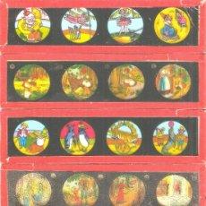 Antigüedades: 830--SERIE 6 PLACAS CON FOTOGRAMAS PARA VER CINE EN LINTERNA MÁGICA,FABRICADAS EN,ALEMANIA. Lote 38284155