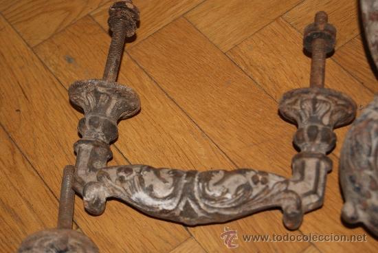 Antigüedades: PRECIOSO LLAMADOR Y TIRADOR DE PUERTA SIGLO XVIII O PRINCIPIOS XIX - Foto 4 - 38290185