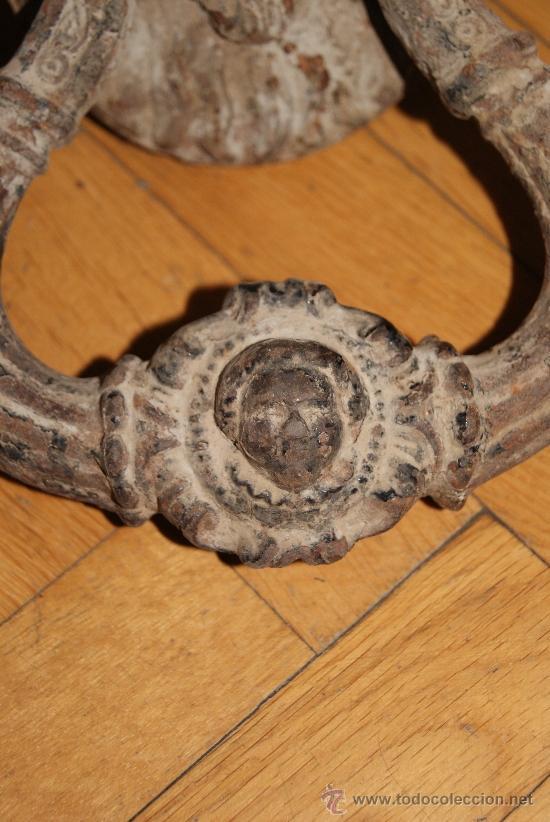 Antigüedades: PRECIOSO LLAMADOR Y TIRADOR DE PUERTA SIGLO XVIII O PRINCIPIOS XIX - Foto 6 - 38290185