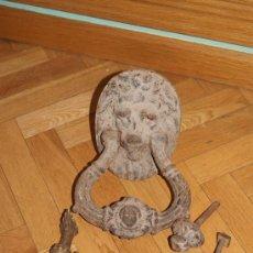 Antigüedades: PRECIOSO LLAMADOR Y TIRADOR DE PUERTA SIGLO XVII O PRINCIPIOS XIX . Lote 38290254