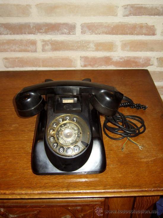 Teléfonos: ANTIGUO TELEFONO ORIGINAL BAQUELITA NEGRA DE SOBREMESA.ANTIGUO MARCADO Y MARCA -PTT-. - Foto 2 - 38333120