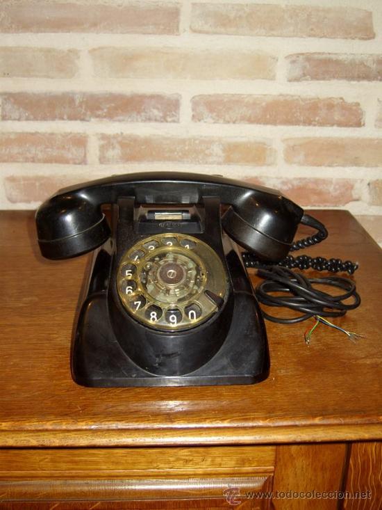 Teléfonos: ANTIGUO TELEFONO ORIGINAL BAQUELITA NEGRA DE SOBREMESA.ANTIGUO MARCADO Y MARCA -PTT-. - Foto 3 - 38333120