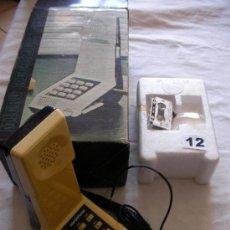Teléfonos: ANTIGUO TELEFONO VINTAGE DE PIE CON CONTESTADOR INCORPORADO DE CINTA NUEVO EN SU CAJA. Lote 38363422