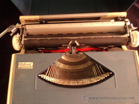 Antigüedades: MAQUIINA PORTATIL MITORAL. PORTUGUAL. 35X30 - Foto 2 - 38361297