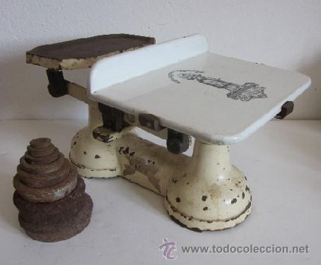 ANTIGUA BALANZA INGLESA (Antigüedades - Técnicas - Medidas de Peso - Balanzas Antiguas)