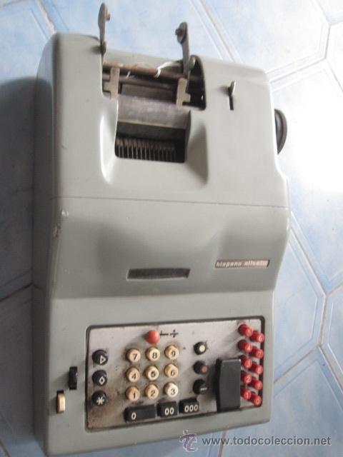 ANTIGUA SUMADORA ELECTRICA HISPANO OLIVETTI AÑOS 60 - FALTA CABLE ALIMENTACION, 13 KG, + INFO (Antigüedades - Técnicas - Aparatos de Cálculo - Calculadoras Antiguas)