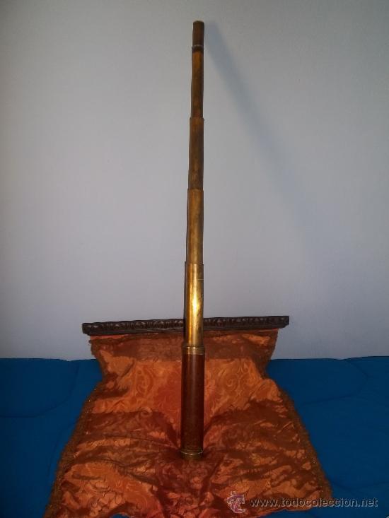 CATALEJO NAUTICO USO MILIRTAR NAPOLEÓNICO 1800 S.XIX .ORIGINAL 114 CMTS DE GRAN TAMAÑO VEAN FOTOS (Antigüedades - Técnicas - Instrumentos Ópticos - Catalejos Antiguos)