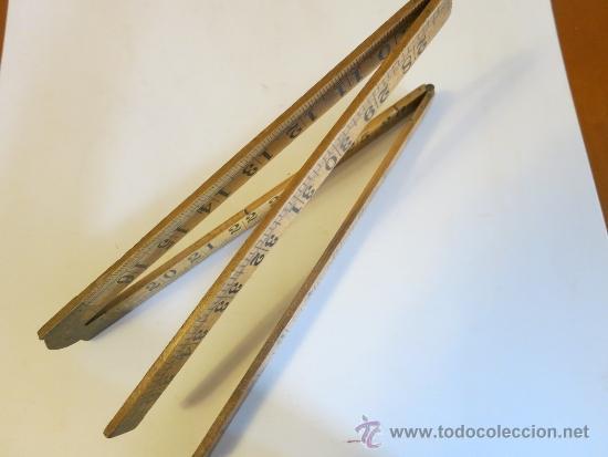 Antigüedades: regla inglesa de 36 pulgadas RABONE nº 1167 - Foto 2 - 38510867