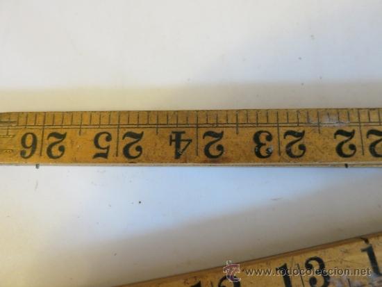 Antigüedades: regla inglesa de 36 pulgadas RABONE nº 1167 - Foto 5 - 38510867