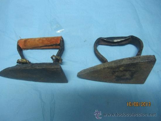 Antigüedades: ETNOGRAFICA PLANCHA ANTIGUA DE HIERRO MAZIZO DE CARBON PLANCHAS - Foto 4 - 38591006