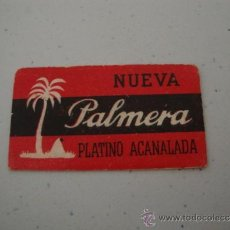Antigüedades: CURIOSA Y ANTIGUA HOJA DE AFEITAR COMPLETA MARCA PALMERA, EN .. Lote 38632726