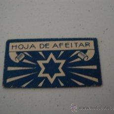 Antigüedades: CURIOSA Y ANTIGUA HOJA DE AFEITAR COMPLETA MARCA ESTRELLA?, EN .. Lote 38632739