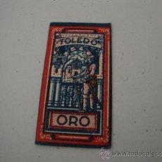 Antigüedades: CURIOSA Y ANTIGUA HOJA DE AFEITAR COMPLETA MARCA TOLEDO ORO, EN .. Lote 38632750
