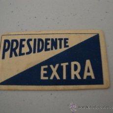Antigüedades: CURIOSA Y ANTIGUA HOJA DE AFEITAR COMPLETA MARCA PRESIDENTE EXTRA, EN .. Lote 38632753