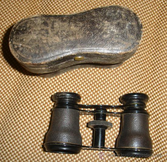 PRISMÁTICOS ANTIGUOS,BINOCULARES,MUY ANTIGUOS,EN SU ESTUCHE,POSIBLEMENTE FRANCESES (Antigüedades - Técnicas - Instrumentos Ópticos - Binoculares Antiguos)