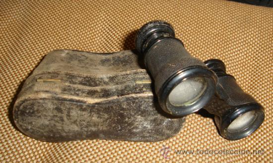 Antigüedades: Prismáticos antiguos,Binoculares,muy antiguos,en su estuche,posiblemente franceses - Foto 2 - 38684652