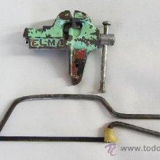 Antigüedades: TORNILLO Y SIERRA. Lote 38704010