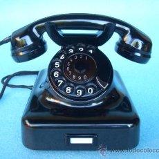 Teléfonos: TELÉFONO ANTIGUO SIEMENS AÑOS 40/50 EN BAQUELITA, 100% ORIGINAL. ADAPTADO A FIBRA ÓPTICA.. Lote 58416614