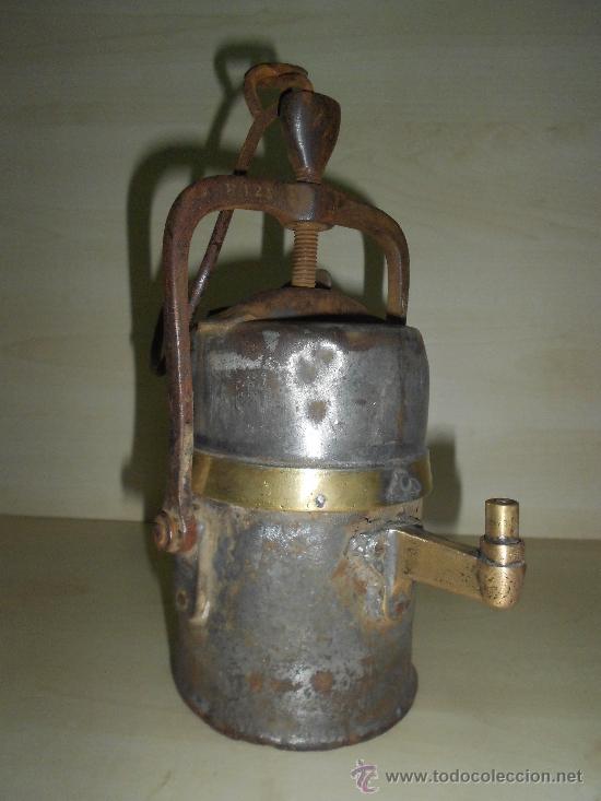 LAMPARA MINERA (Antigüedades - Técnicas - Herramientas Antiguas - Otras profesiones)