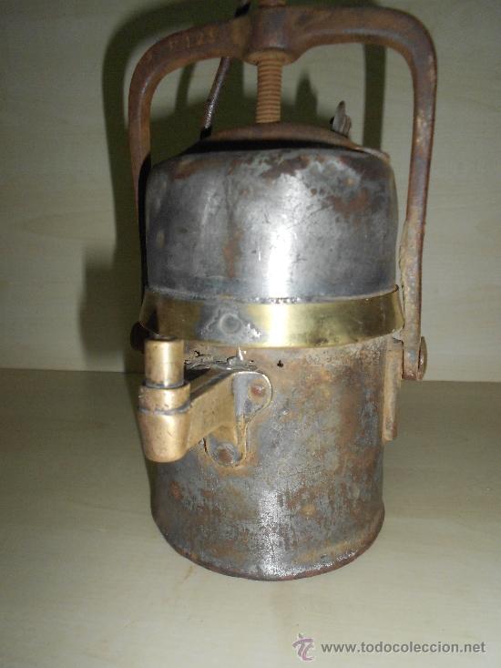 Antigüedades: LAMPARA MINERA - Foto 2 - 38754300