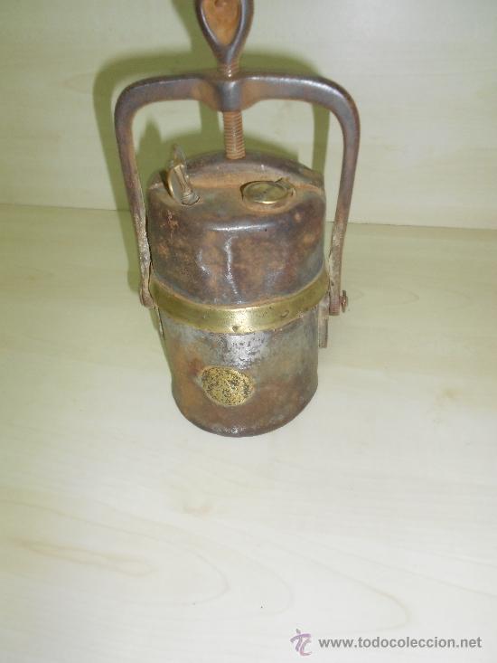 Antigüedades: LAMPARA MINERA - Foto 4 - 38754300