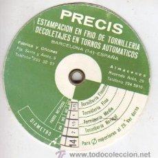 Antigüedades: ESPECIE DE CALCULADORA DE CARTÓN - PRECIS ESTAMPACIÓN TORNILLERIA BARCELONA TORNOS AUTOMATICOS. Lote 38772250