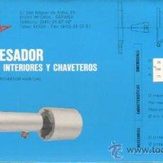 Antigüedades: CALCULADORA DE CARTÓN - FORZA MORDAZAS DE PRESION DESCENDENTES VITORIA HERRAMIENTAS. Lote 38772585