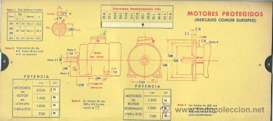 Antigüedades: calculadora de cartón - MOTORES CERRADOS - MERCADO COMUN EUROPEO POTENCIA - Foto 2 - 38772711