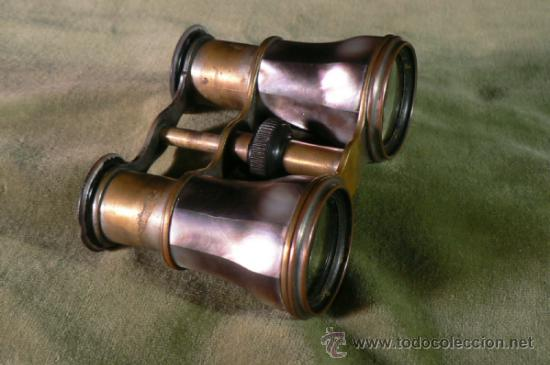 ANTIGUOS PRISMATICOS EN NACAR DE ABALONE PARA TEATRO (Antigüedades - Técnicas - Instrumentos Ópticos - Binoculares Antiguos)
