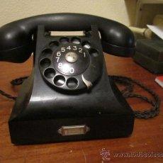 Teléfonos: TELEFONO DE OFICINA NEGRO . BAQUELITA - ERICSON MARCACIÓN DE DISCO -. Lote 38908824