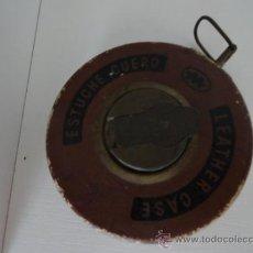 Antigüedades: LEATHER CASE CINTA METRICA ESTUCHE CUERO 10 METROS. Lote 38915428