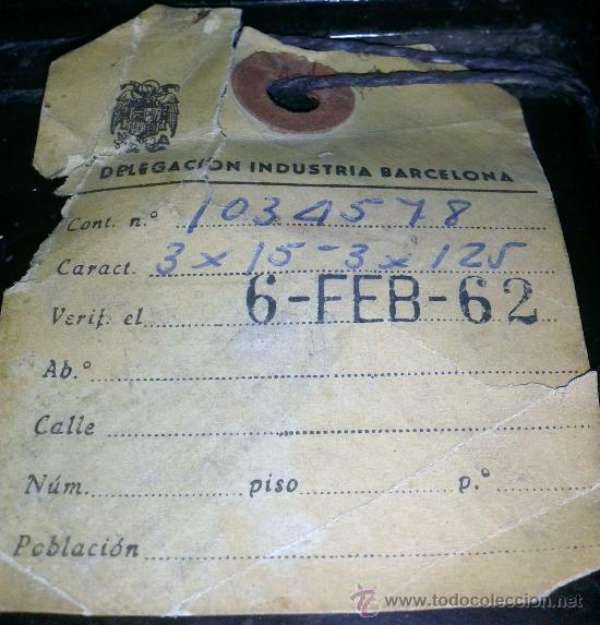 Antigüedades: ANTIGUO CONTADOR DE LA LUZ AÑOS 60 - Foto 5 - 38921435