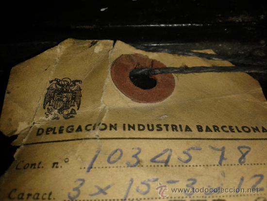 Antigüedades: ANTIGUO CONTADOR DE LA LUZ AÑOS 60 - Foto 6 - 38921435