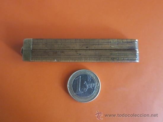 Antigüedades: pequeño metro ingles de 1 pie - Foto 3 - 38951339