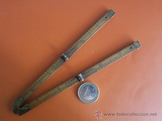 Antigüedades: pequeño metro ingles de 1 pie - Foto 4 - 38951339