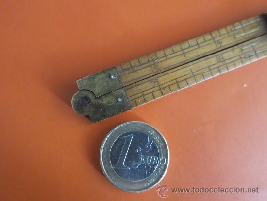 Antigüedades: pequeño metro ingles de 1 pie - Foto 5 - 38951339