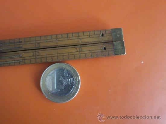 Antigüedades: pequeño metro ingles de 1 pie - Foto 6 - 38951339